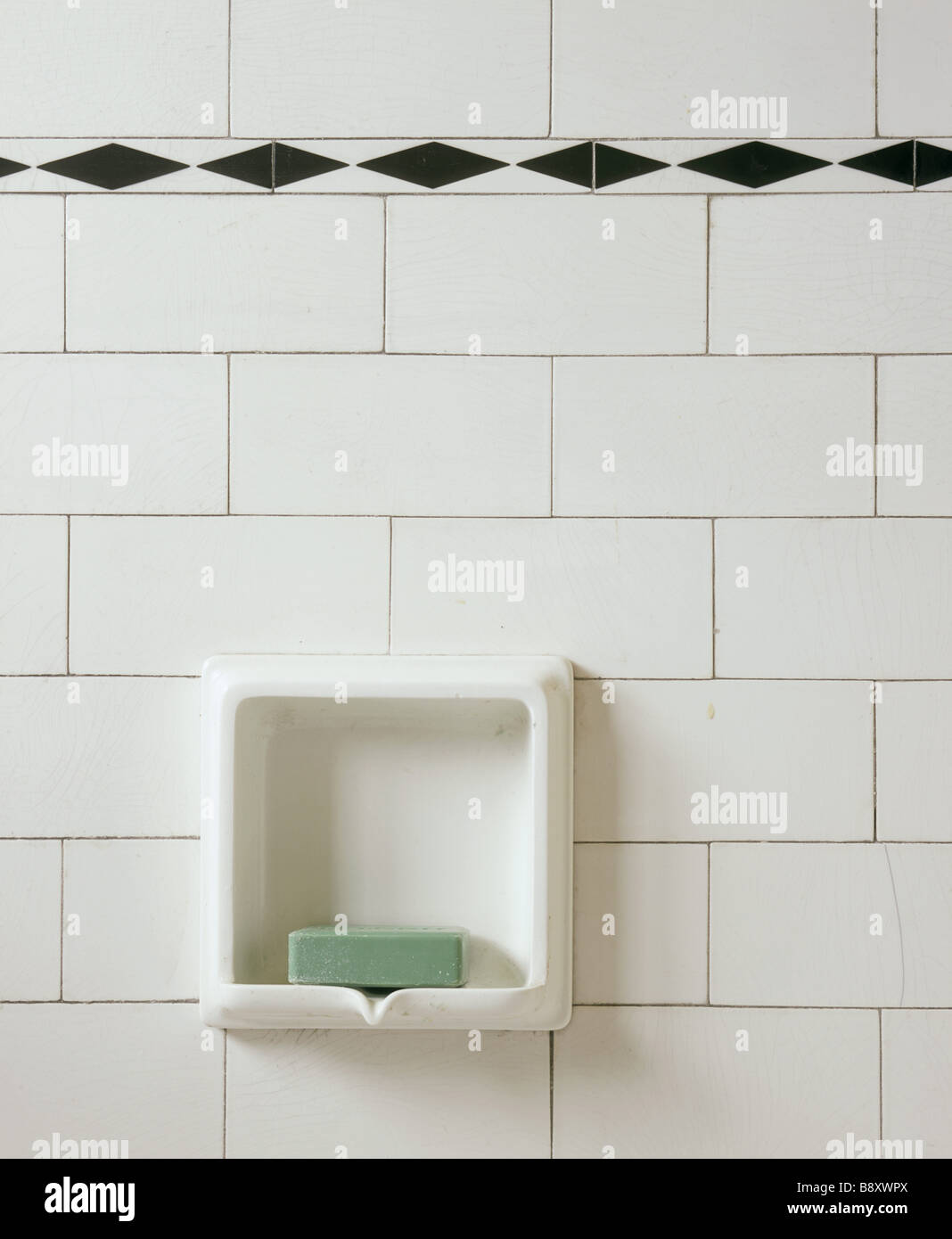 https www alamy com stock photo detail of the bathroom at mendips a ceramic soap holder inset into 22718610 html