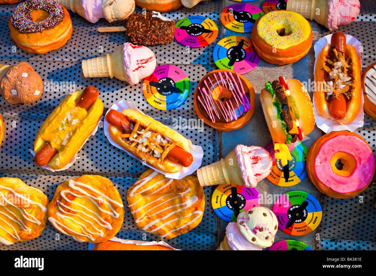 Unhealthy Food Or Junk Food Or Fast Food Like Stock Photo