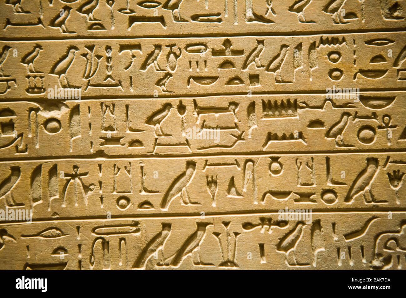 Egyptian Hieroglyphics At Metropolitan Museum Of Art New