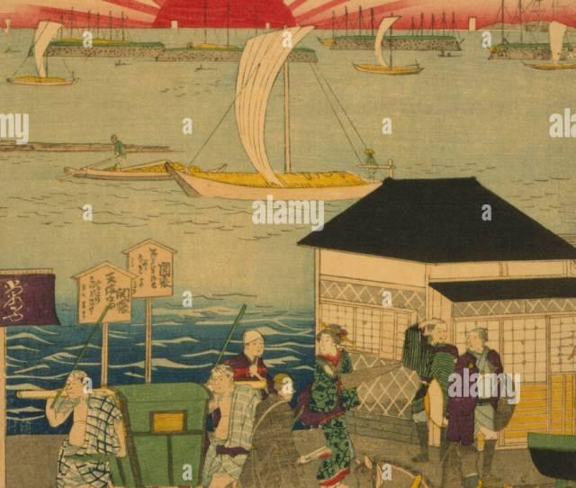 Famous Places In Tokyo Real View Of Takanawa Tokyo Meisho Takanawa No Shinkei