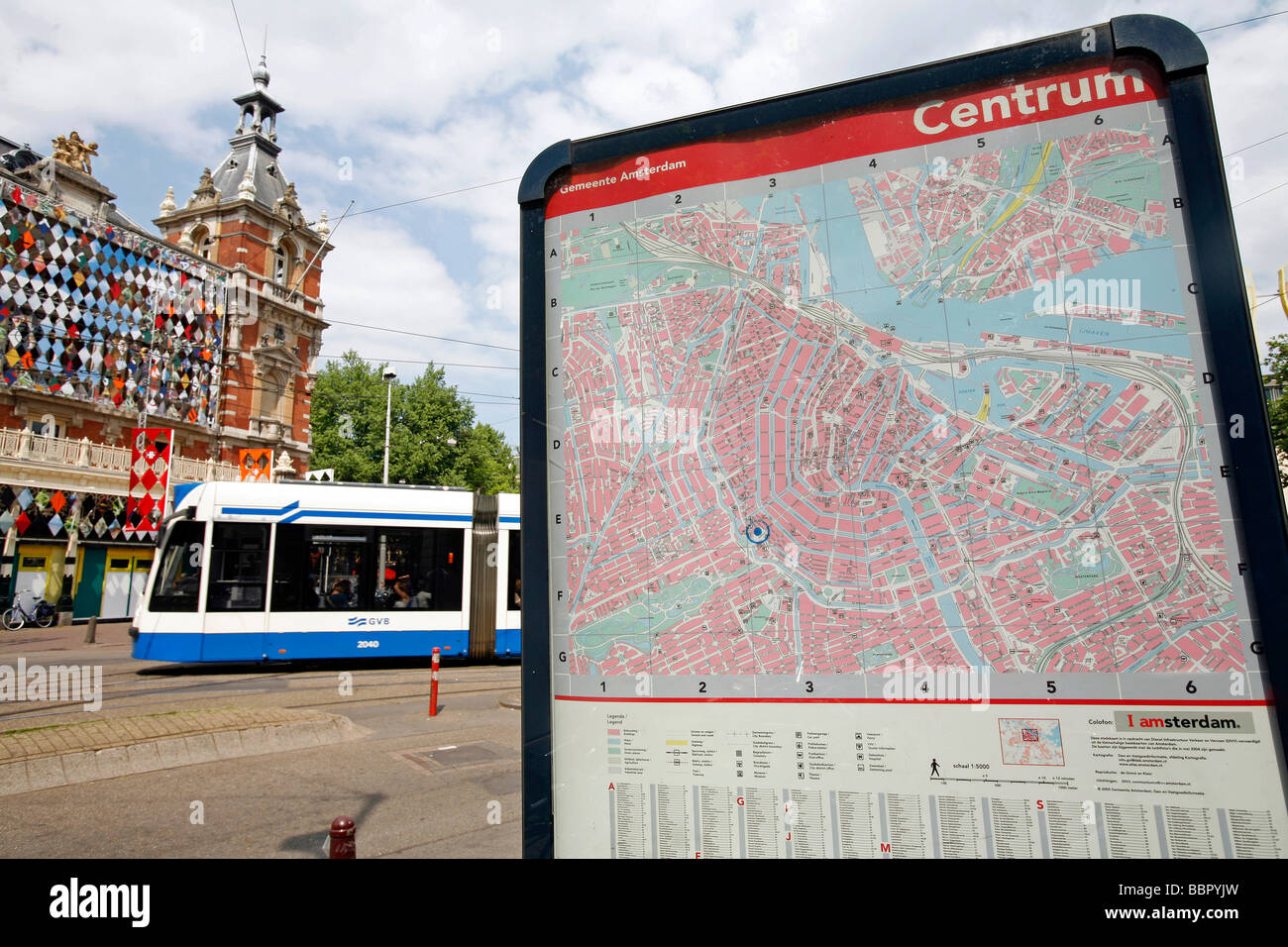 Trams outside Amsterdam Central Picture of GVB