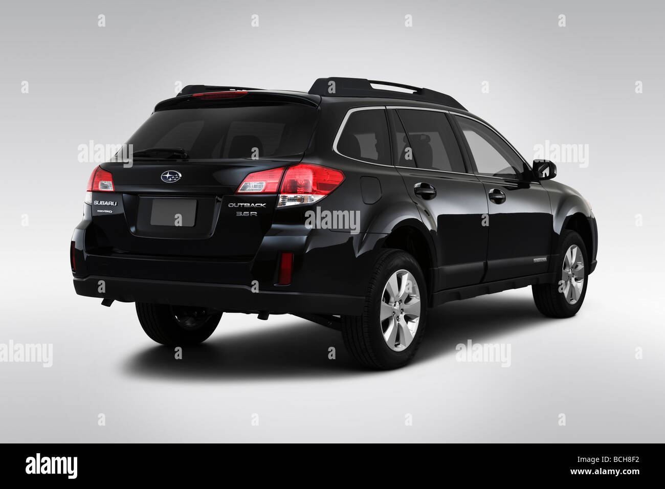 https www alamy com stock photo 2010 subaru outback 36 r in black rear angle view 24966118 html