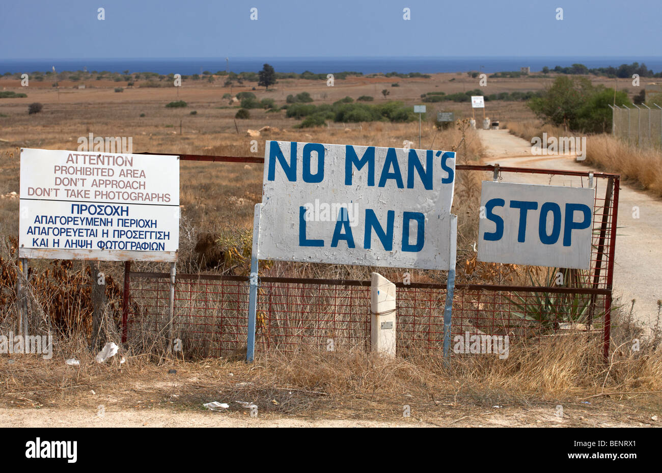 No Mans Land And Restricted Area Of The Un Buffer Zone In