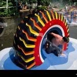 Recycled Tires Playground High Resolution Stock Photography And Images Alamy