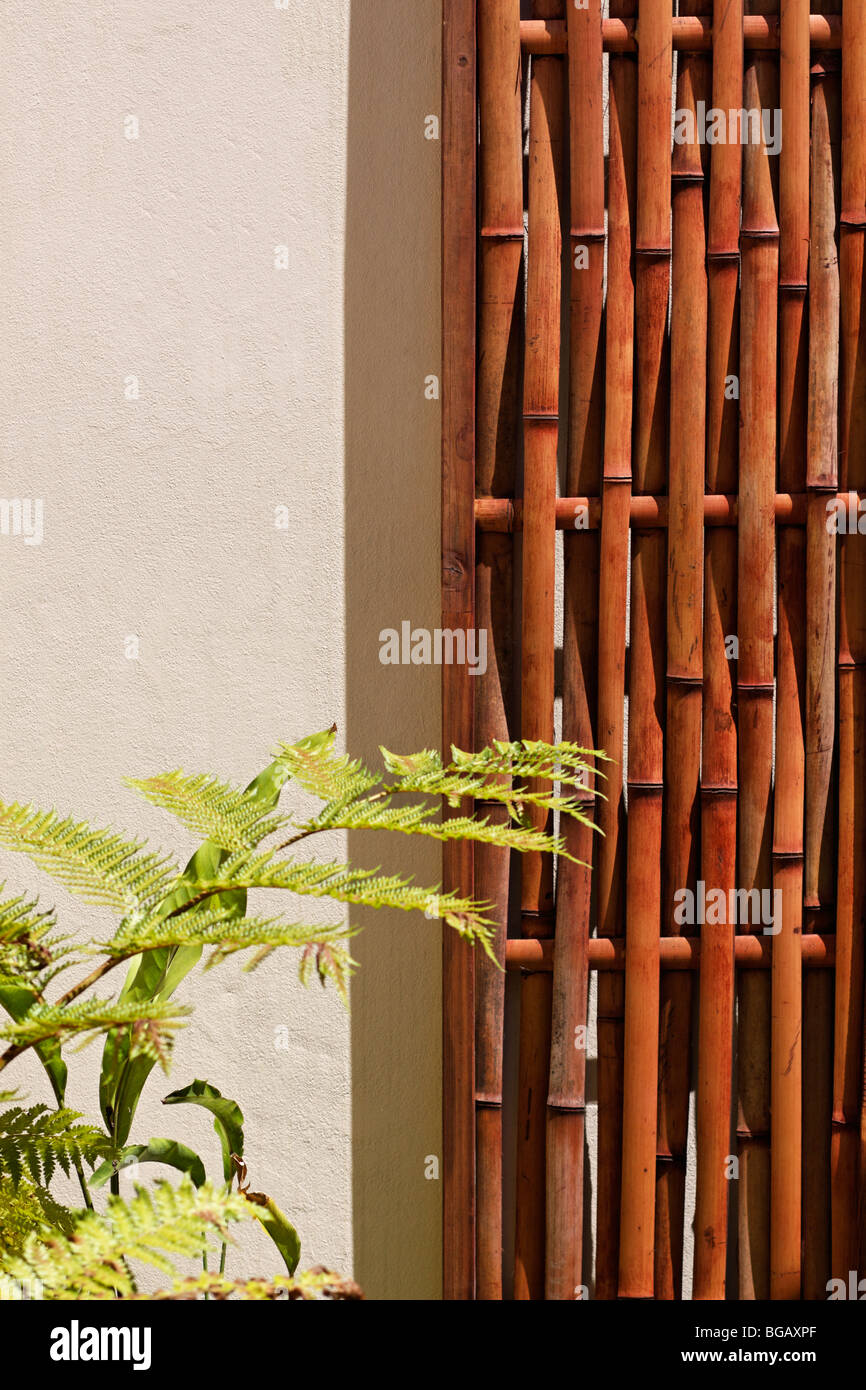 https www alamy com stock photo abstract of bamboo screen hung on patio wall color copy space 27285399 html