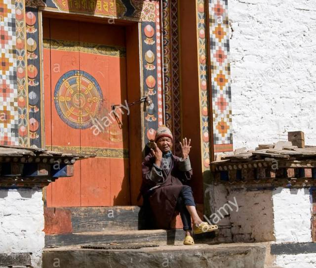Traditional Architecture In Bhutan Stock Image