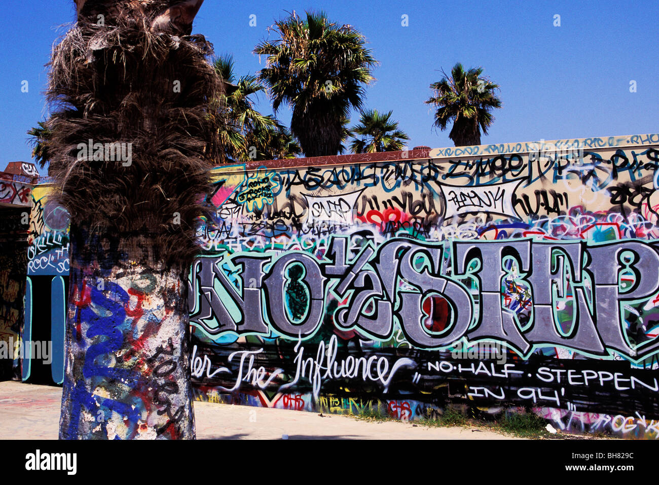 Gang Murals Venice Beach Los Angeles California Stock Photo