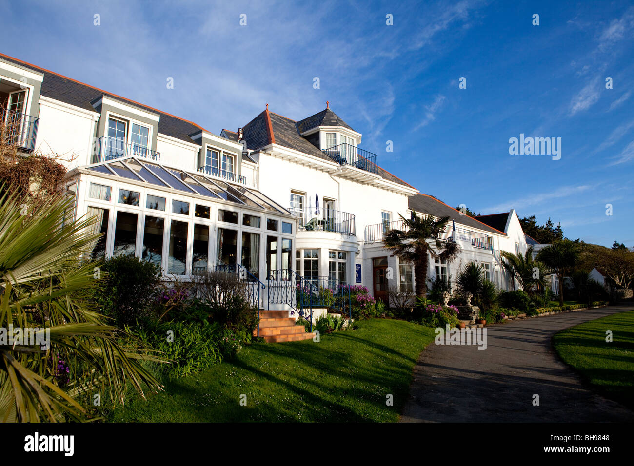 The White House Hotel Herm Island Stock Photo 27863480