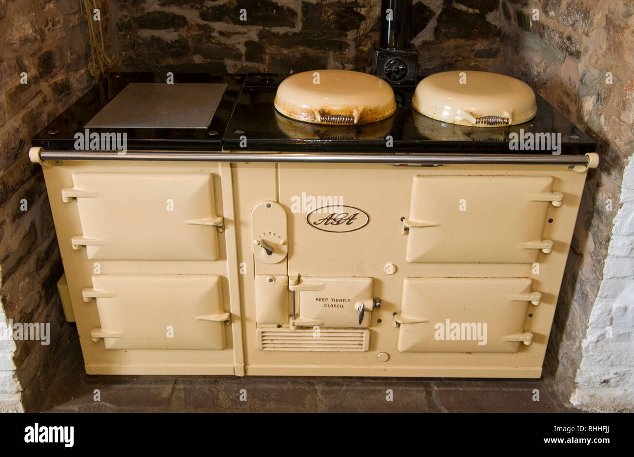 AGA cooker at The Felin Fach Griffin restaurant, near Brecon, Powys