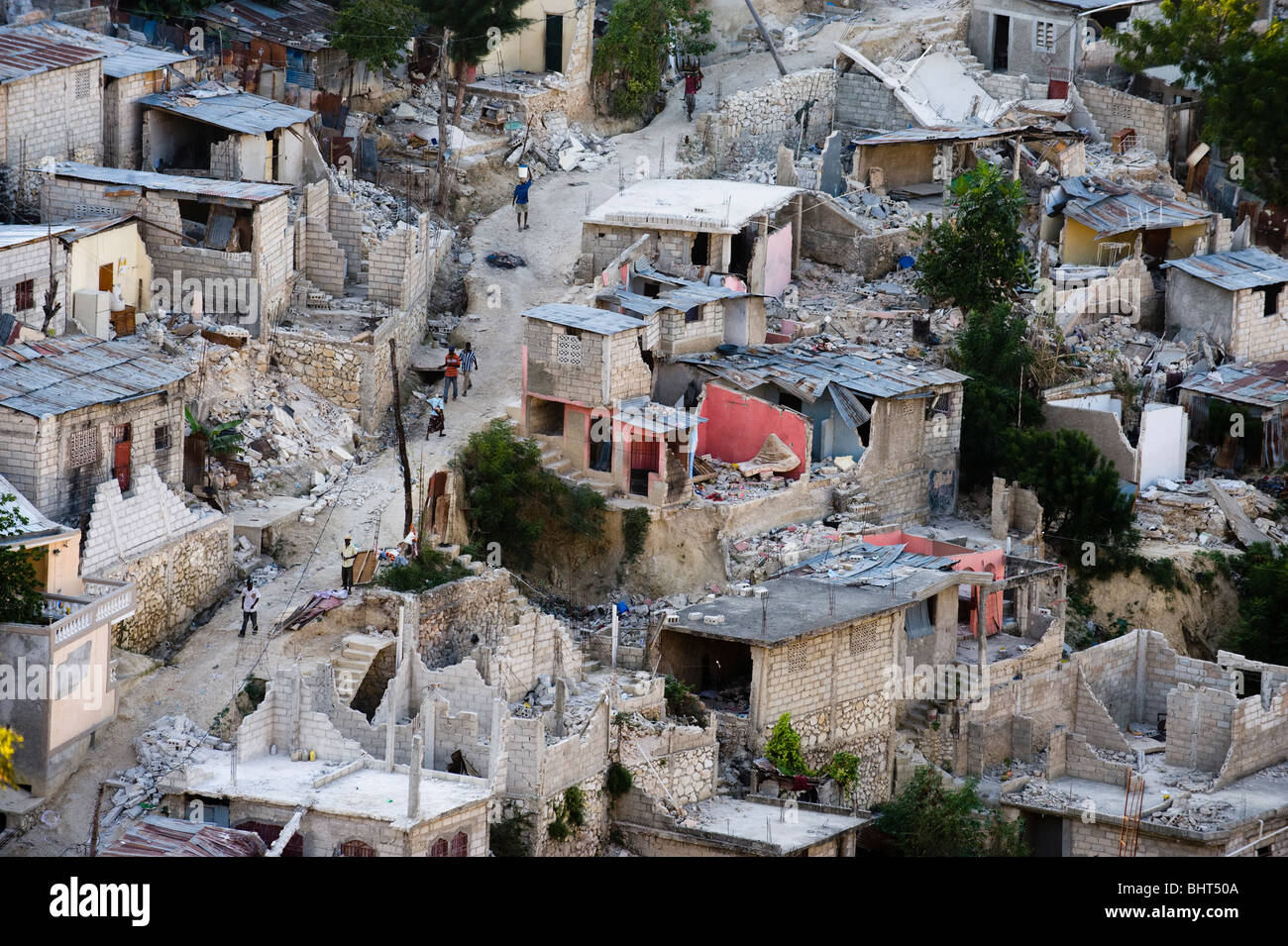 Destroyed Area Of Petionville After 7 0 Mw Earthquake Struck Haiti On Stock Photo