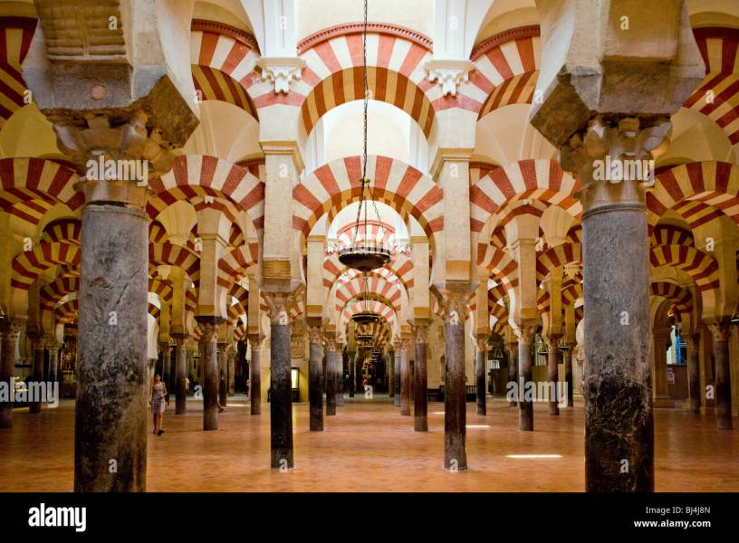 interior of Mosque Cathedral  Cordoba  Andalusia  Spain Stock Photo     interior of Mosque Cathedral  Cordoba  Andalusia  Spain