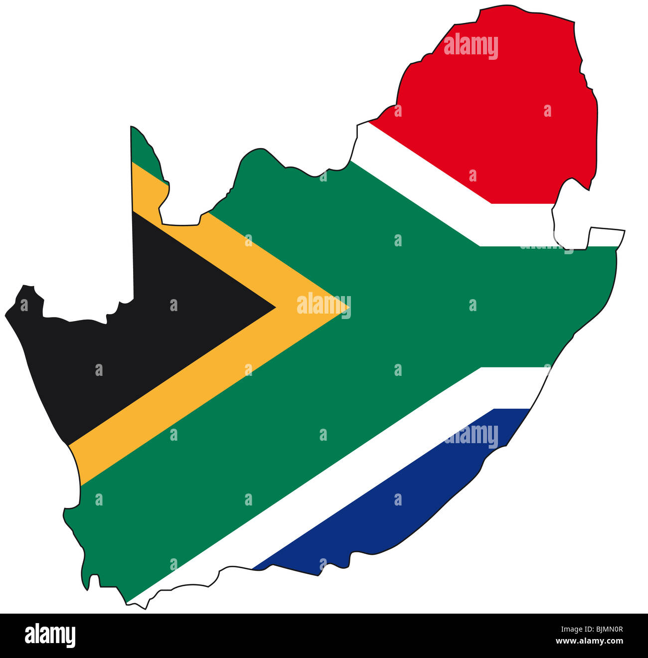 South Africa Map Outline High Resolution Stock Photography