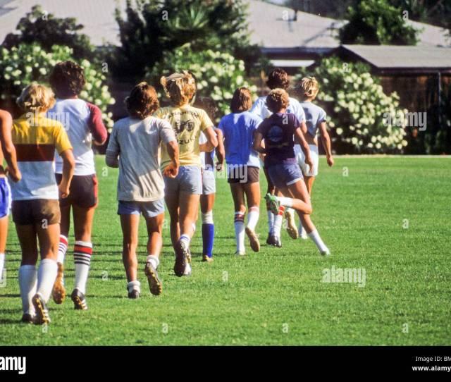 Teen Boys Run To Warm Up Before Soccer Football Practice High School Shorts Hot Shirtless Jog