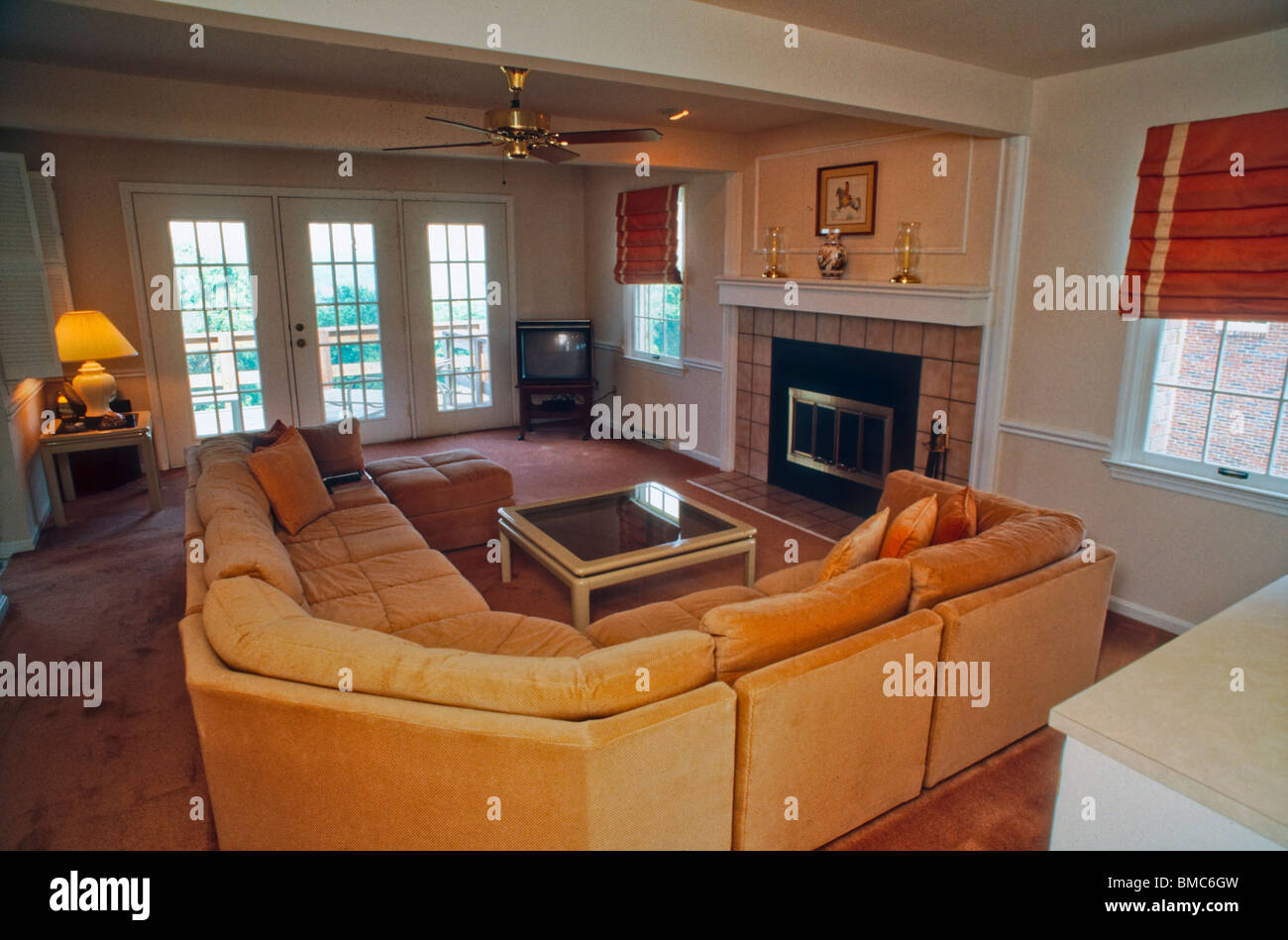 American Architecture Inside Suburban House Living Room