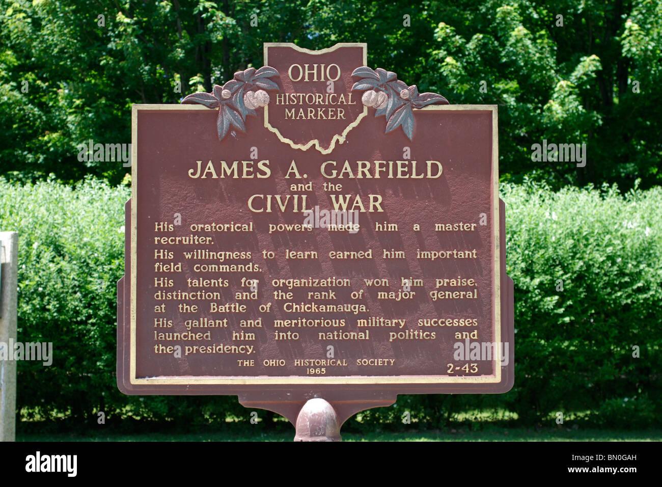 James A Garfield Monument Stock Photos Amp James A Garfield