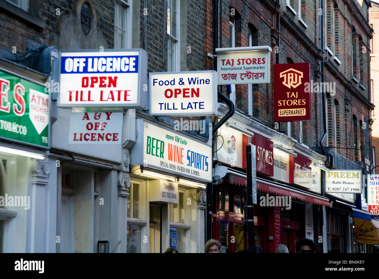 https www alamy com stock photo signs above indian asian stores and shops businesses on brick lane 30265171 html