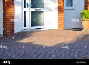 Block Paving Disability Ramp To House Front Door Giving Step