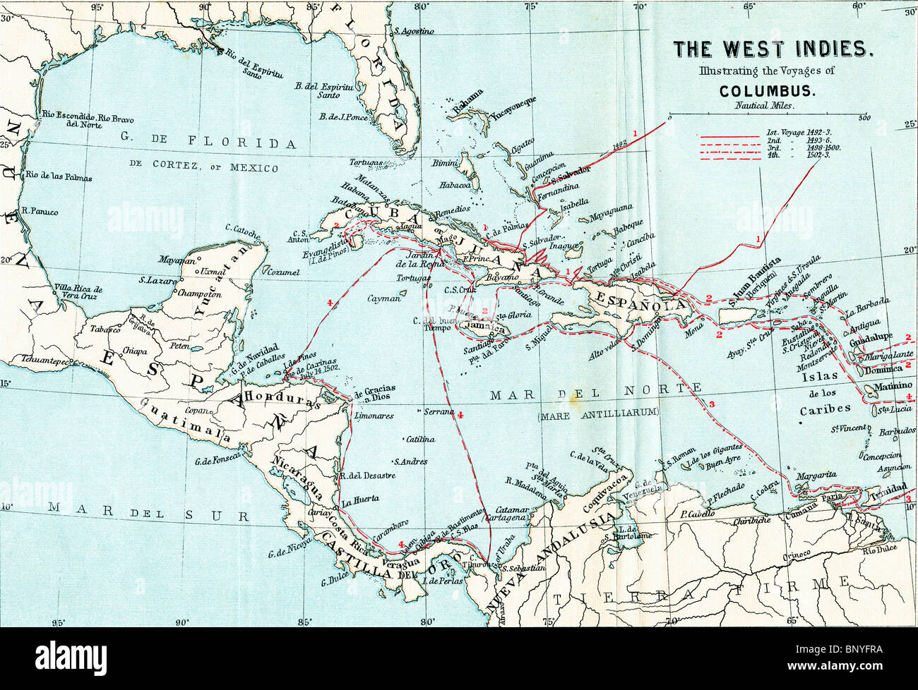Map Of The West In S Illustrating The Voyages Of