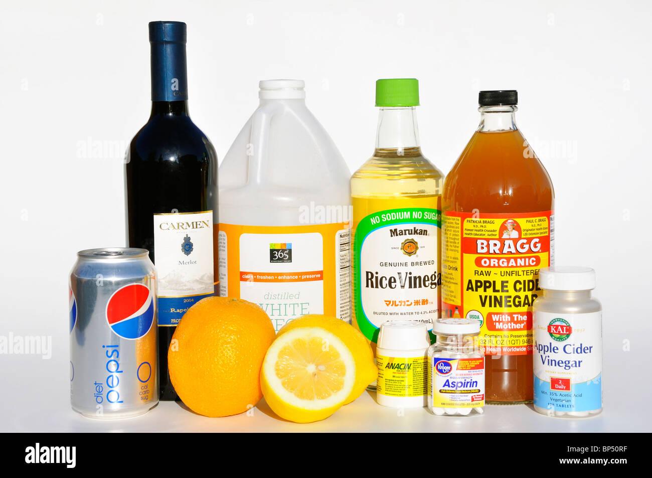 Household Acids Stock Photo