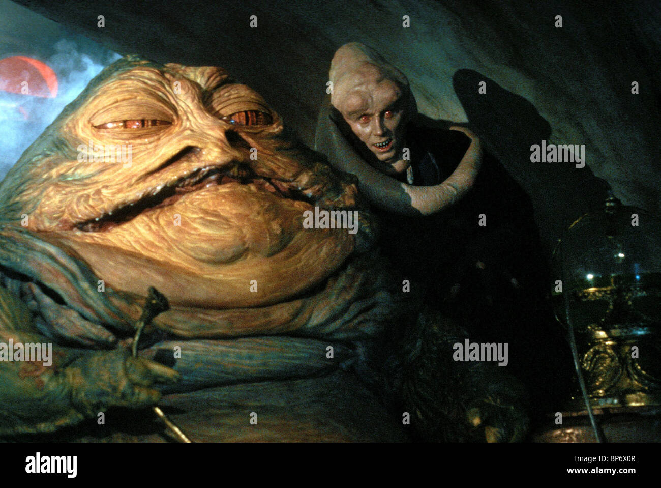 Jabba The Hut Amp Michael Carter Star Wars Return Of The Jedi Star Stock Photo