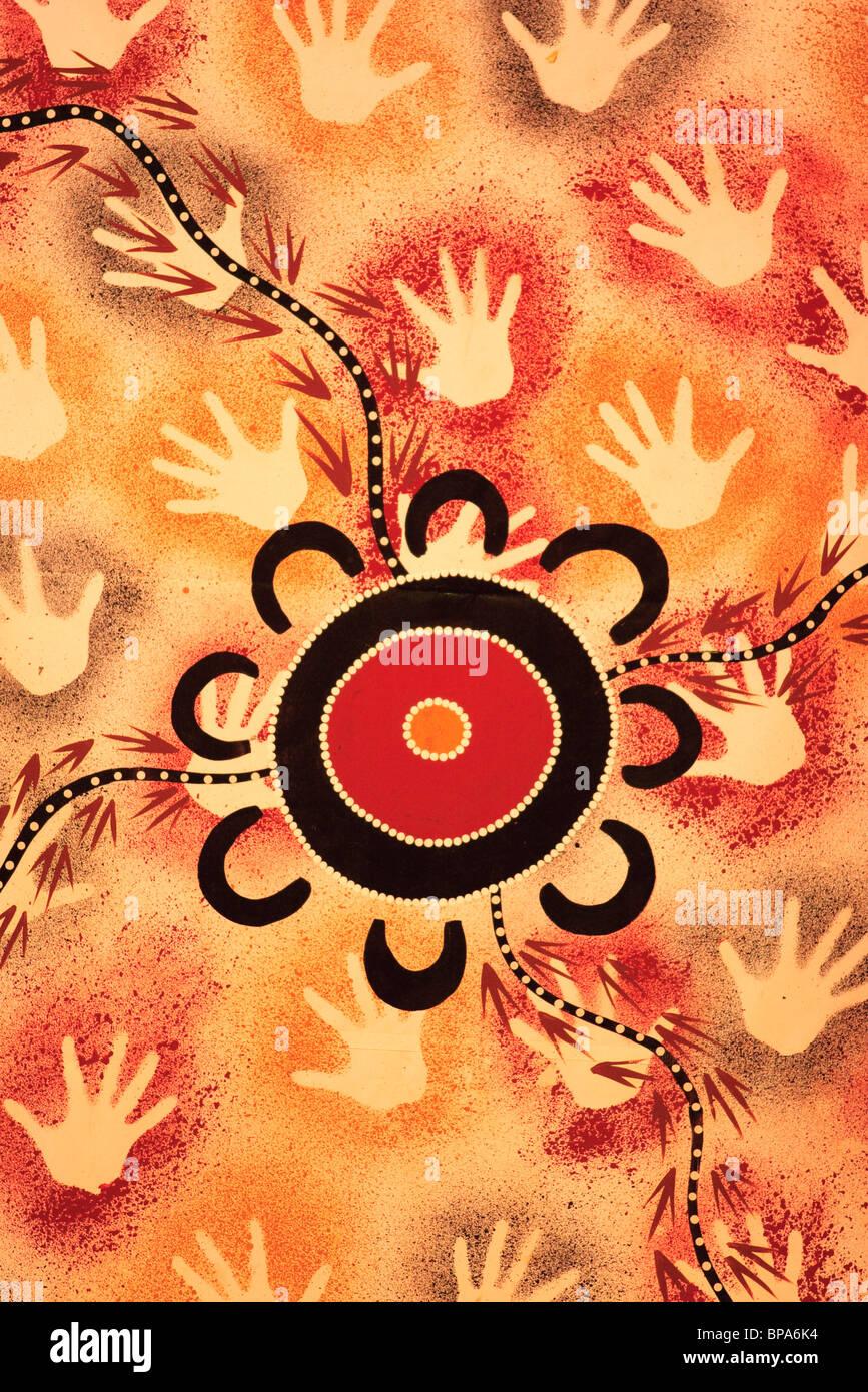 Aboriginal Art Work On Display At The Aboriginal And