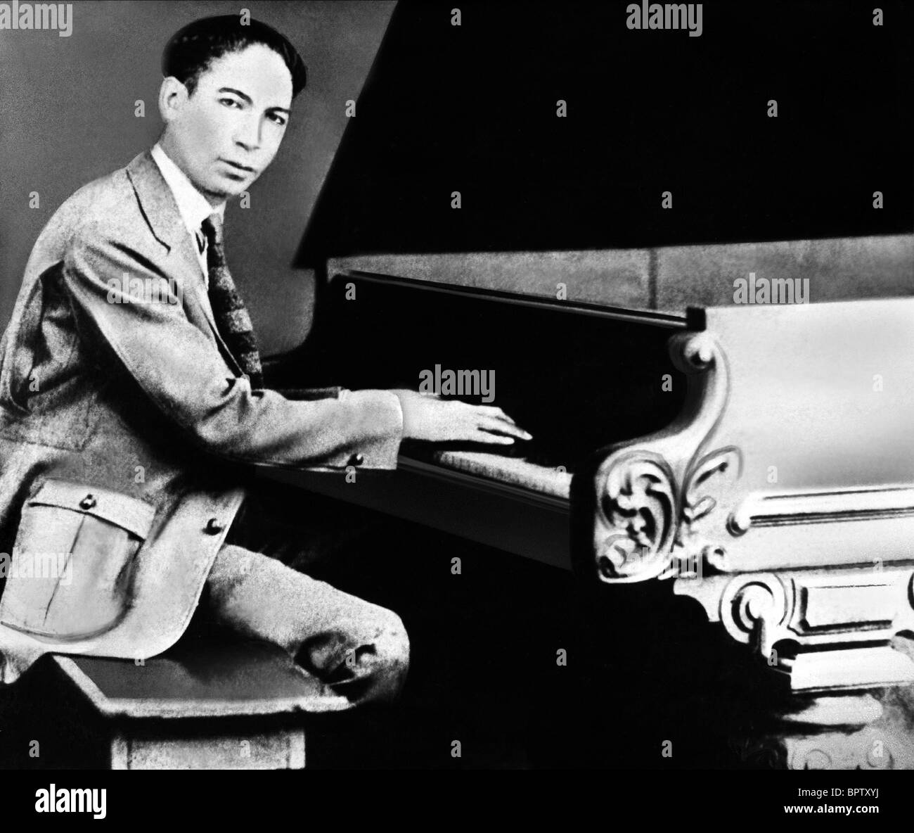 Jelly Roll Morton Pianist Stock Photo