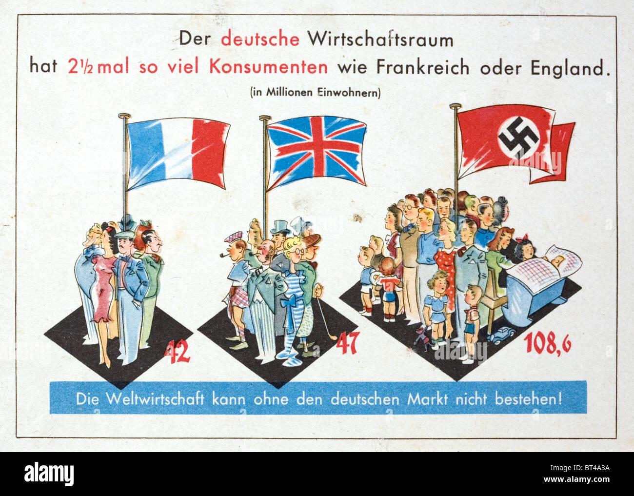 S German Nazi Propaganda Postcard Without German