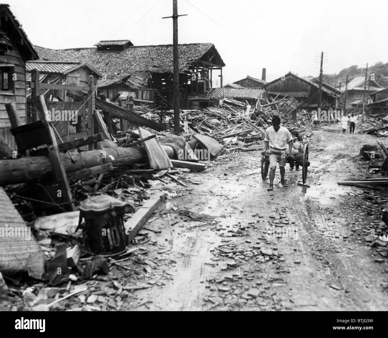 World War Ii Atomicing Aftermath In Suburb Four