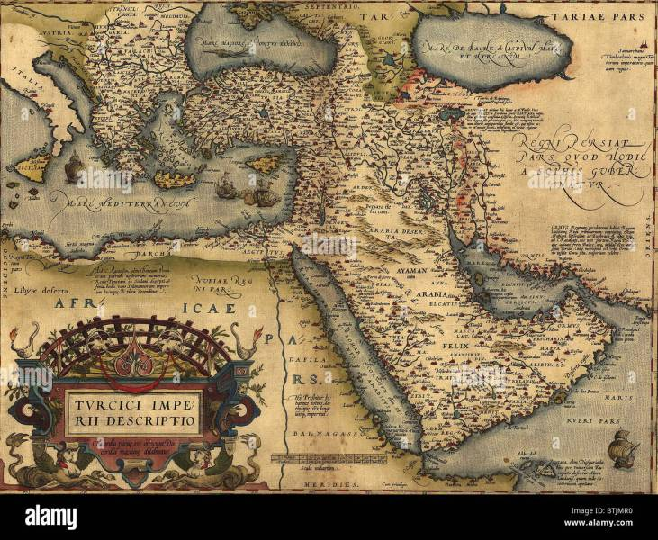 1570 map of Asia Minor  then the Ottoman Empire  from Abraham Stock     1570 map of Asia Minor  then the Ottoman Empire  from Abraham Ortelius   atlas   Theatrvm orbis terrarvm  Epitome of the Theater
