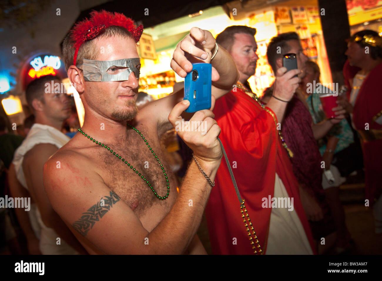 Costumed Revelers During Fantasy Fest Halloween Parade In Key West Jpg X Key West Halloween Parade