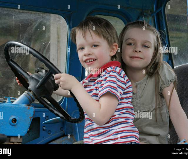Brother And Sister First Time In Tractor Cab