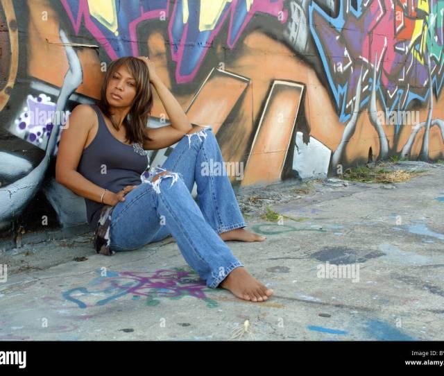 Beautiful Mature Black Woman With Graffiti 6