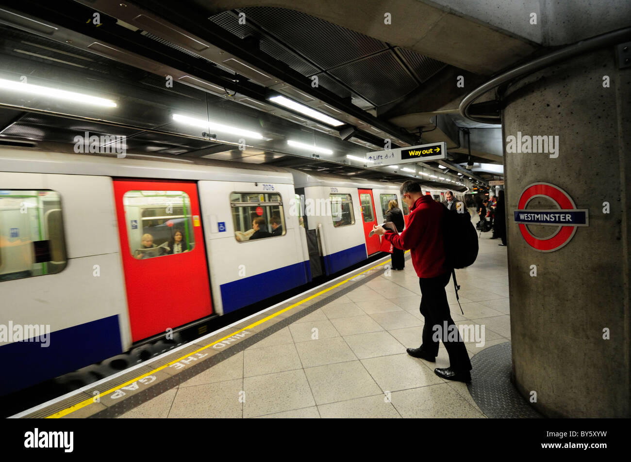 Westminster Underground Tube Station Circle And District