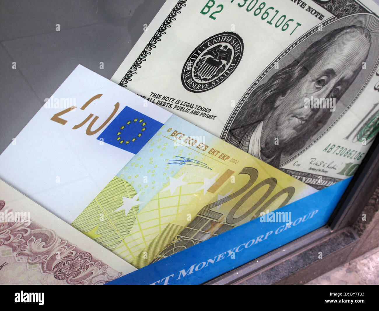 dollar euro pound yen exchange cambio bureau de change