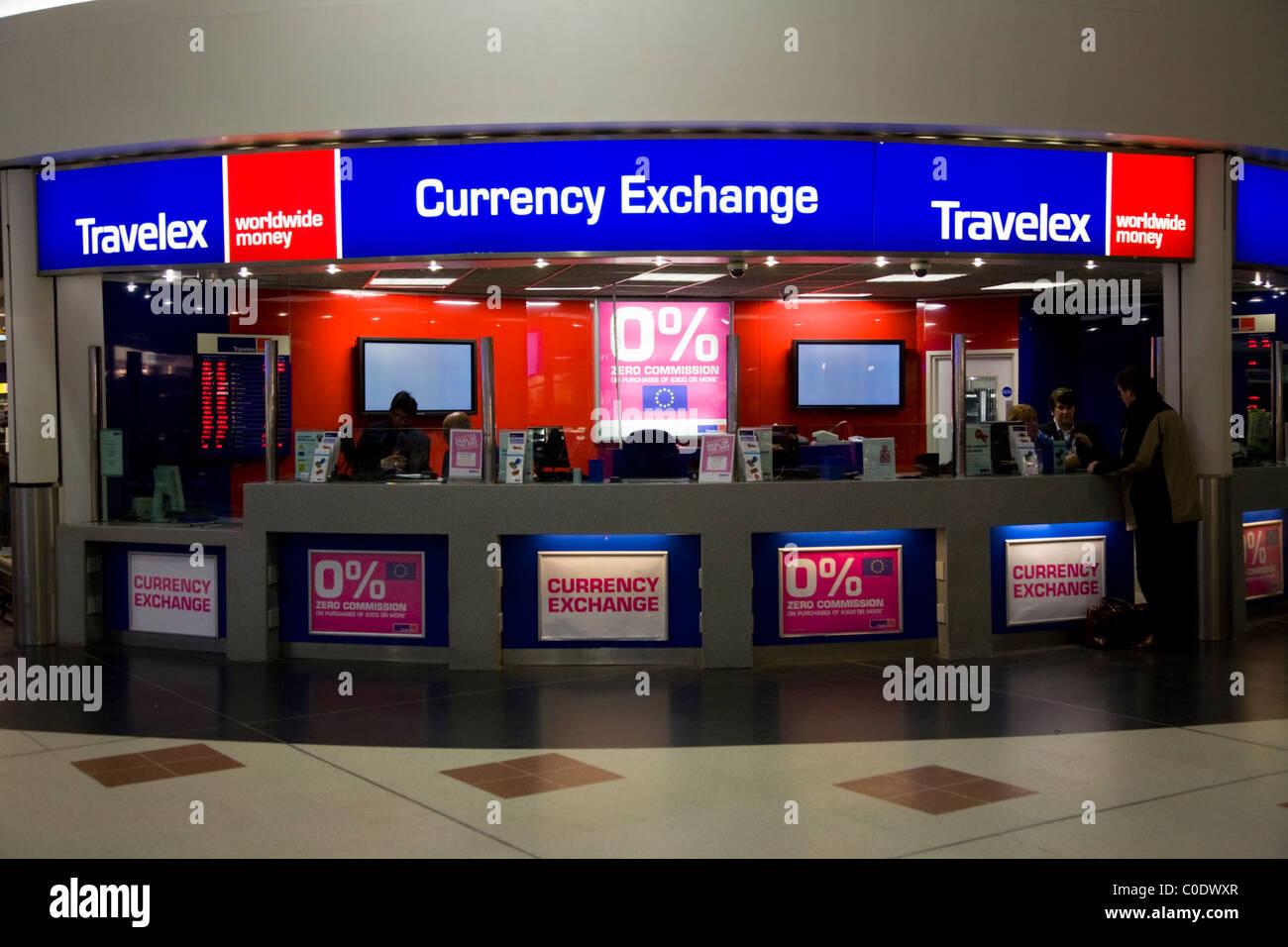 Bureau De Change Office Operated By Travelex At Gatwick