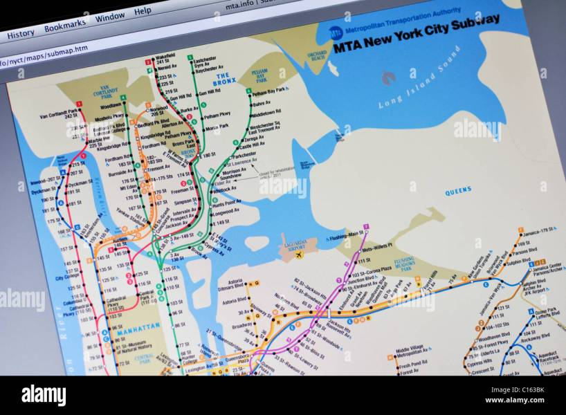 Nyc Subway Map Stock Photos   Nyc Subway Map Stock Images   Alamy New York City Subway map website   Stock Image