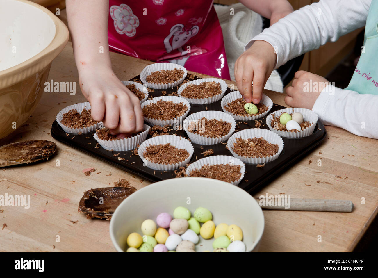 Easter Cakes Shredded Wheat