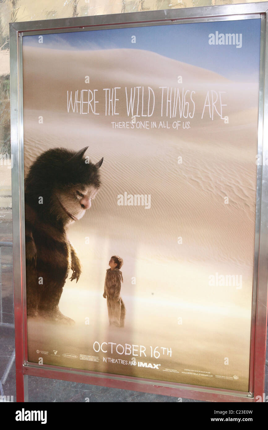 https www alamy com stock photo where the wild things are poster new york premiere of where the wild 35726905 html