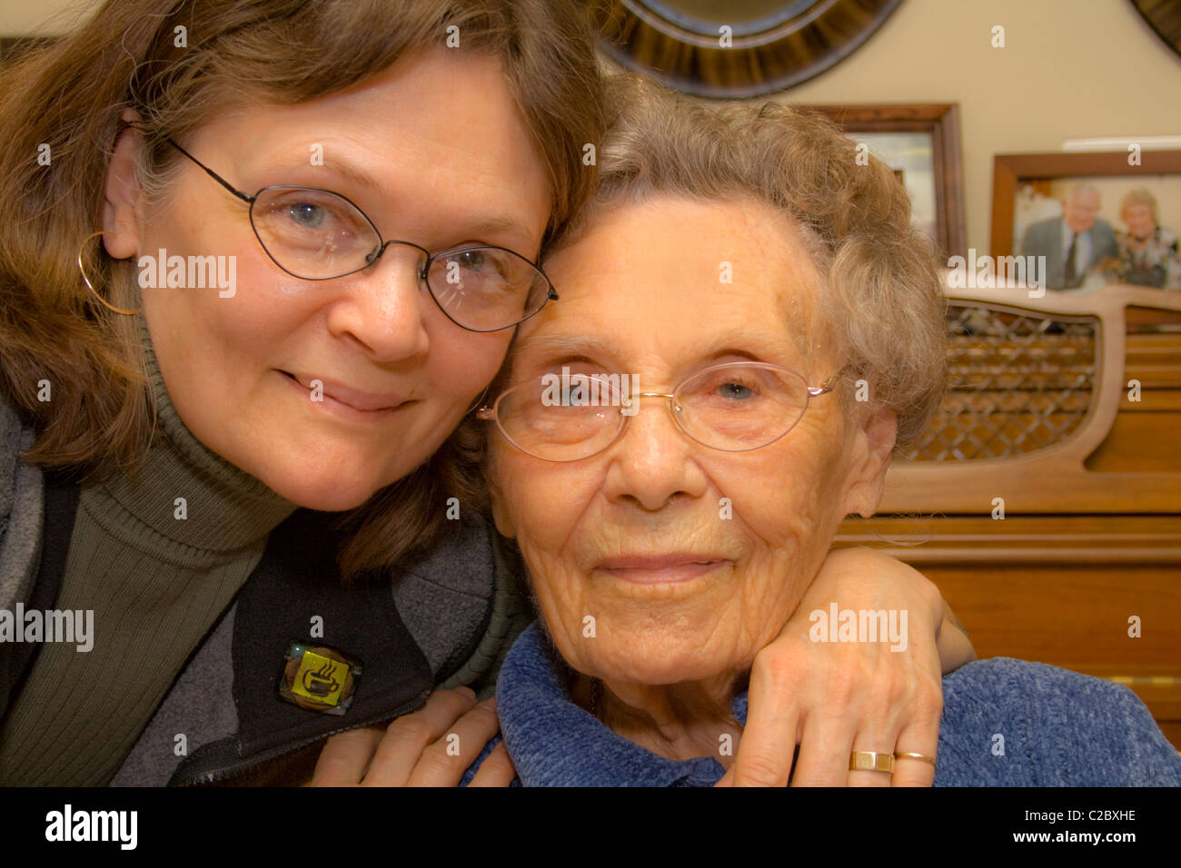 https www alamy com stock photo daughter age 60 celebrating mothers 100th birthday party st paul minnesota 35912394 html