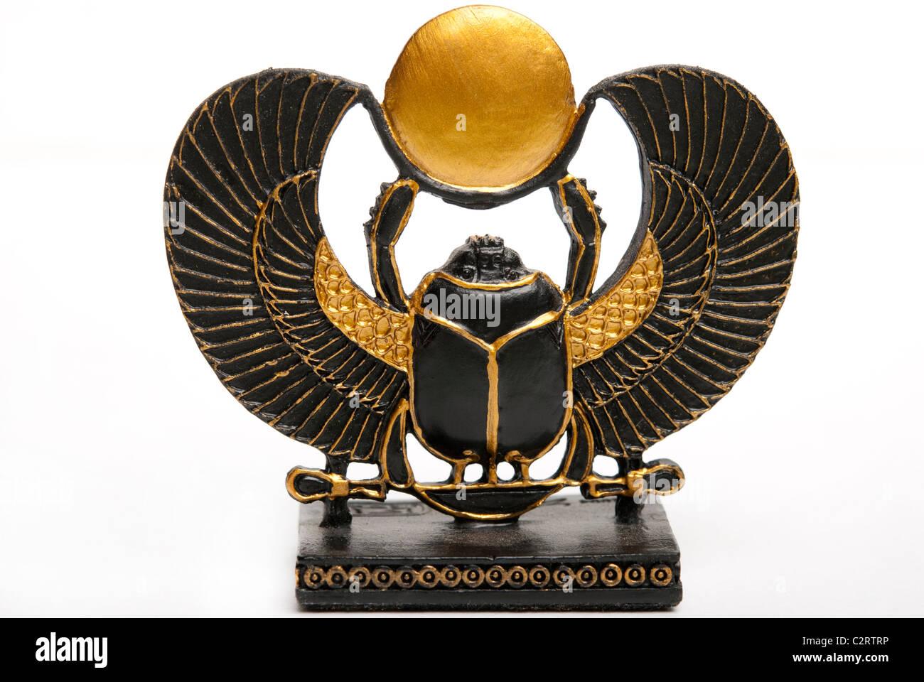 Statue Of Egyptian God Scarab Or Khepri Decoration