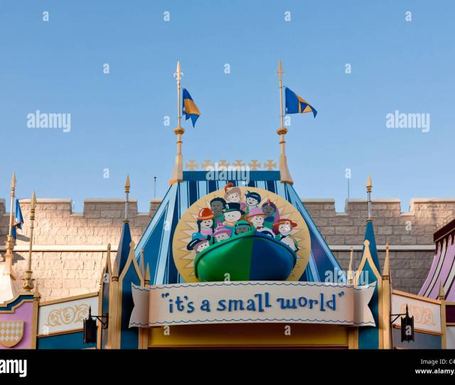 Entrance To Its A Small World Attraction Ride In Fantasyland At The Magic Kingdom In Disney World Kissimmee Florida