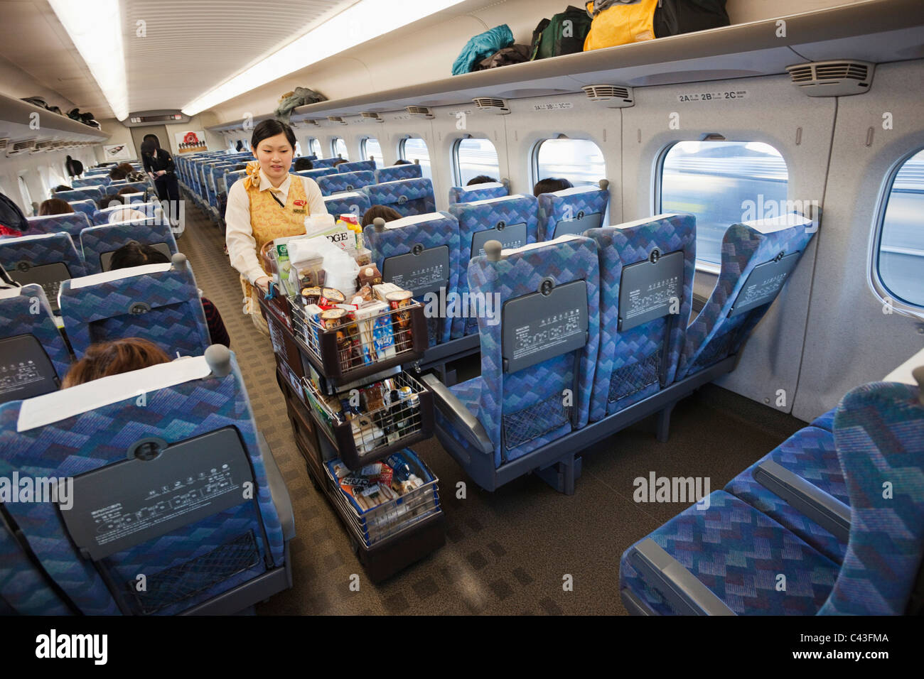Asia Japan Honshu Bullet Train Shinkansen High Speed