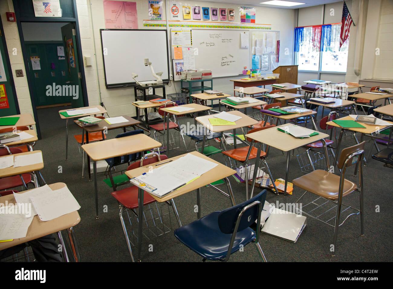 Eighth Grade Language Arts Classroom Stock Photo Royalty