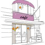 Cafe Exterior Stock Photo Alamy