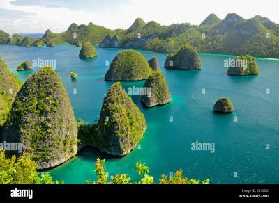 Wayag Island view, Raja Ampat islands near West Papua ...