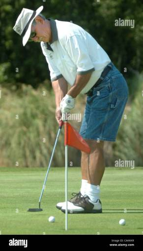Springtown Stock Photos   Springtown Stock Images   Alamy Richard Fuller of Livermore  Calif   practices his putting at Springtown  Golf Course in