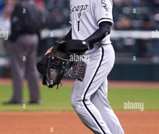 Cleveland Oh Usa May 8 Chicago White Sox Left Fielder Kosuke Fukudome