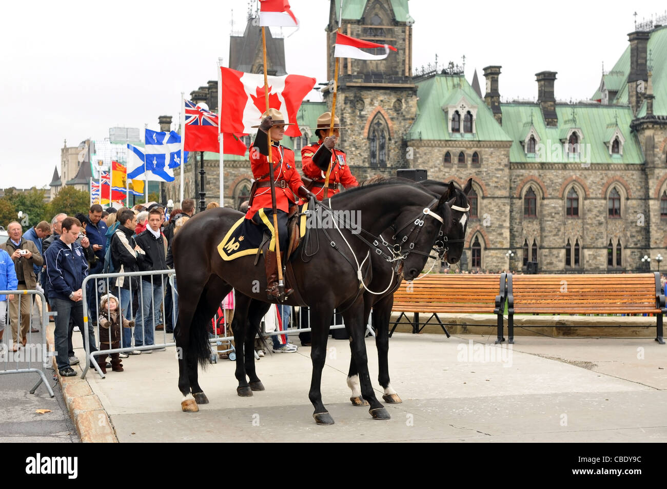Royal Canadian Mounted Police On Duty At The National