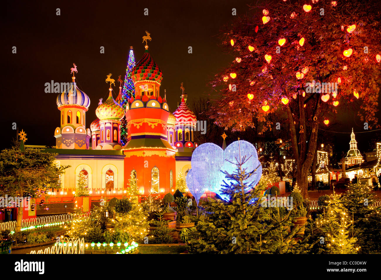 The Russian Christmas Theme In Tivoli Copenhagen Stock