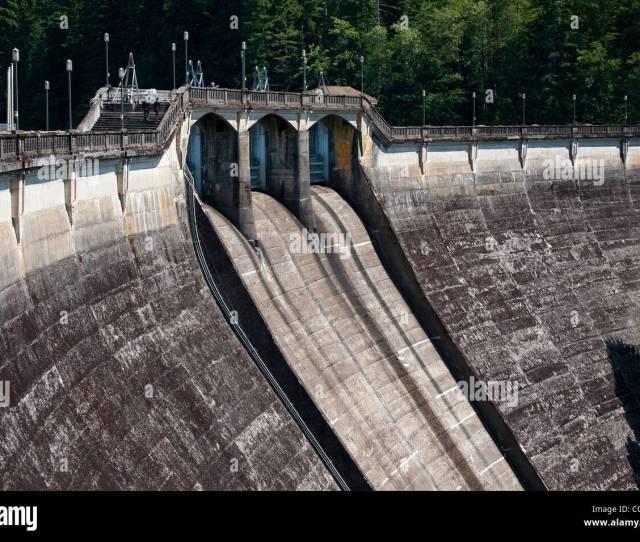 Spillway And Spillway Gates Dam 1 Bull Run Watershed Oregon
